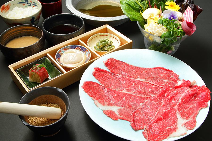 国産牛のしゃぶしゃぶ御膳(160g)