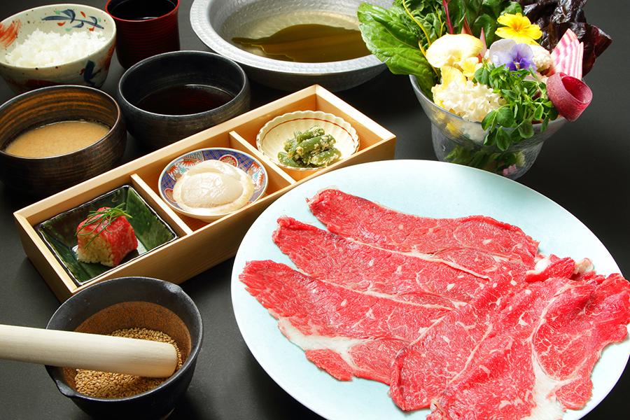 国産牛のしゃぶしゃぶ御膳(150g)